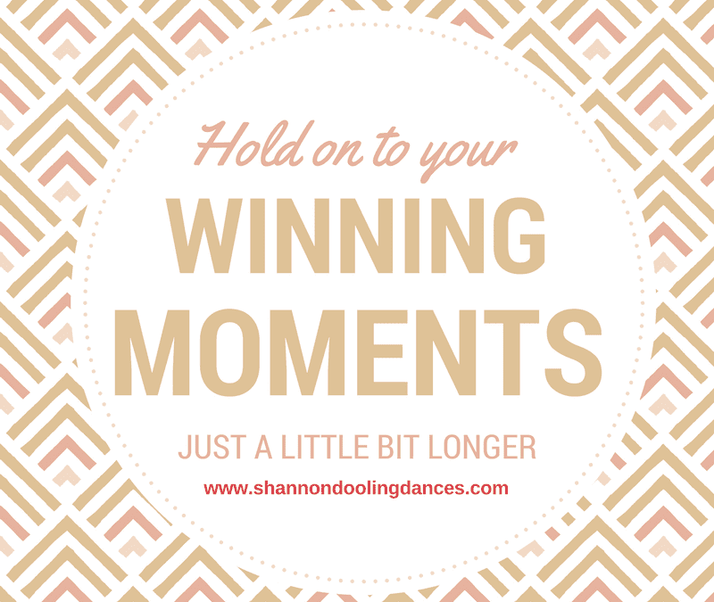 The #MondayMessage: Hold On To Your Wins