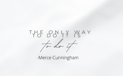 #MonthlyMessage: The Only Way To Do It…